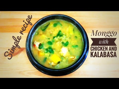 Monggo with chicken and kalabasa