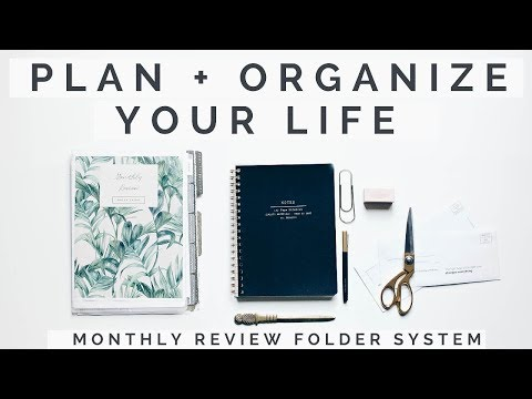 How To Plan + Be More Organized | DIY Student, Work + Home Monthly Planner