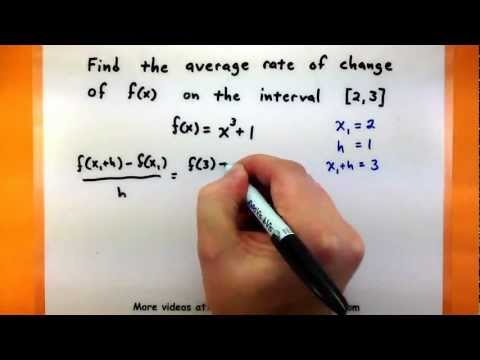 Calculus - Find the average rate of change of a function on