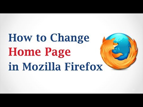 How to Change HomePage in Mozilla Firefox