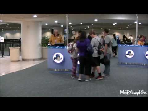 Disney's Magical Express Check In at MCO Airport ORLANDO