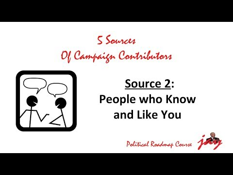 How to do Political Campaign Fundraising: People who Like You