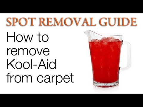 How to Remove Kool Aid stains from Carpet | Spot Removal Guide