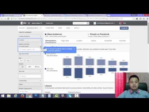 Video Cara Menggunakan Audience Insight Iklan Facebook