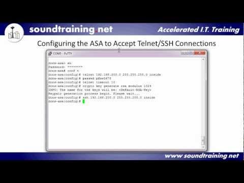How to Perform Cisco ASA Remote Management using Telnet, SSH, and ASDM:  Cisco ASA Training 101