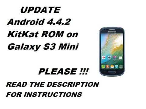 how to update samsung galaxy s3 mini (sm-g730w8)