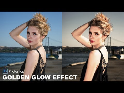 How to Create Beautiful Golden Glow Portraits in Photoshop - High Dynamic Warm Toned Effect