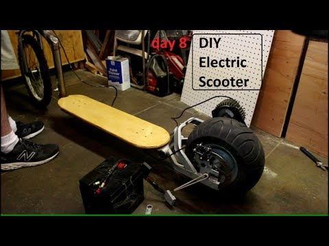 DIY Electric Scooter build - Day 8 - 5-7-2017 - Adding new Gear to Rear wheel