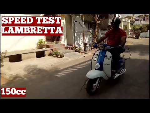 Old Lambretta Scooter Speed Test Trails Post Work On Old Lambretta Scooter Clutch-Diy