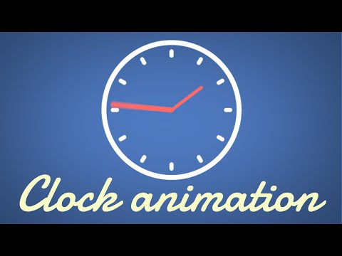 Simple Clock Animation | Easy After Effects Tutorial