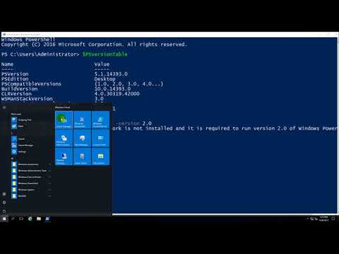 Show current version and switch version Windows PowerShell