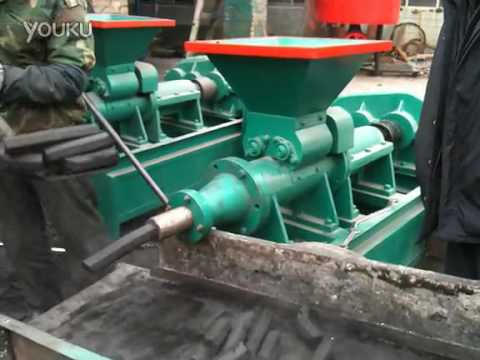 video of charcoal briquette extruder machine,charcoal extruder machine