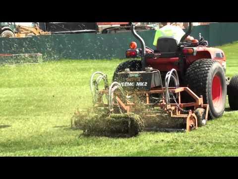 Football Field Dethatching service - Sports Turf maintenance