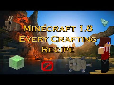 Minecraft 1.8 Every Crafting recipe & Information on Rabbits, Leaping Potions & Armour Stands