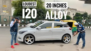Hyundai I20 With Loudest Music Setup | Hyundai i20 With 20 Inches Alloy | Modified i20 In Delhi