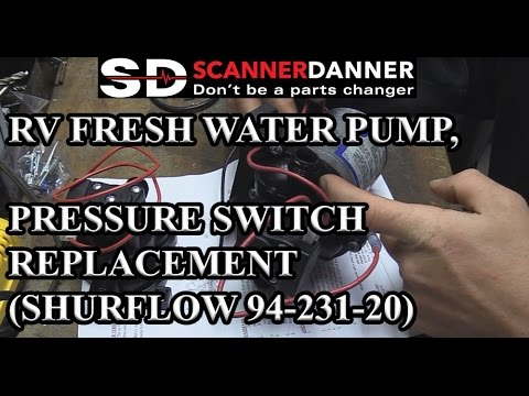 RV fresh water pump, pressure switch replacement (ShurFlow 94-231-20)