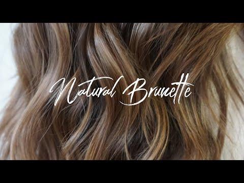Natural Brunette || Hair Tutorial