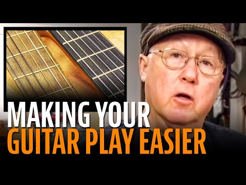 Making a guitar neck more comfortable to play