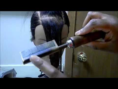 How To Properly Straighten the Hair with a Pressing Comb/Hot Comb