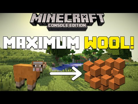 Minecraft Xbox & Playstation: How to Get The Maximum Amount of Wool from a Sheep!