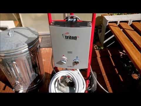 DIY Hot Showers While Camping - Portable Propane Hot Water Heater