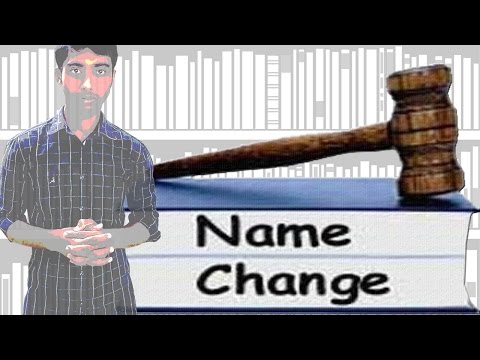 Name Change Process in India | How to | Must Watch
