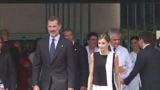 Spanish royal family visit Barcelona victims