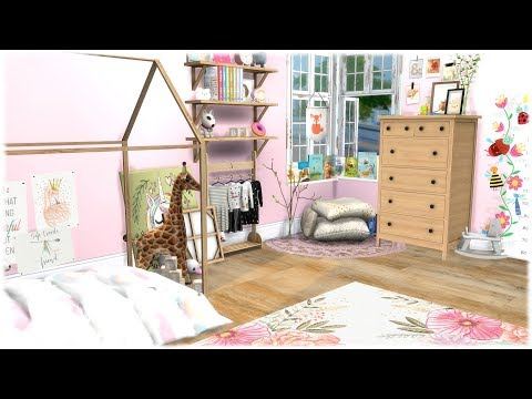 The Sims 4: Speed Build // PINK  TODDLER BEDROOM + CC LINKS