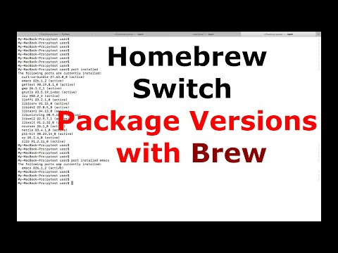 How to Homebrew Switch Package Versions with Brew