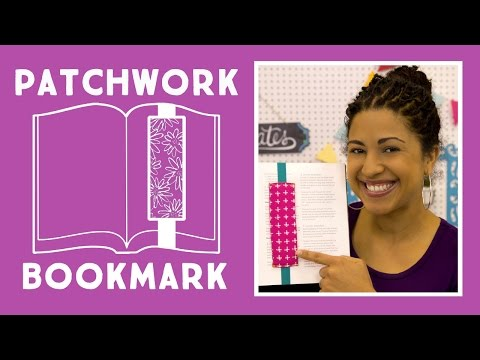 Make an Easy Patchwork Bookmark with Elastic and Fabric