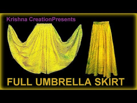 Full Umbrella Skirt | No Maths | फुल अम्ब्रेला स्कर्ट |  From Old Saree | Cutting and Stitching