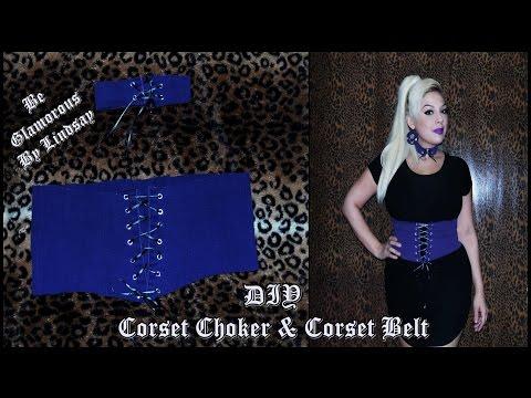 DIY Corset Choker and Corset Belt