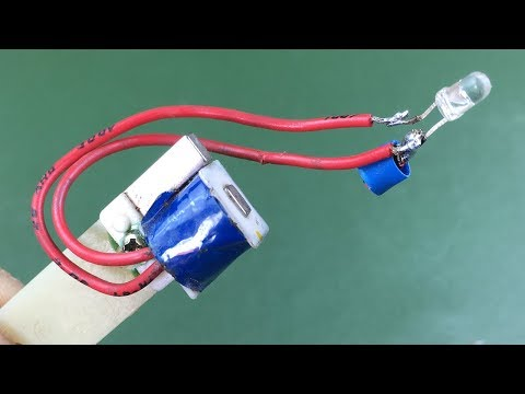 How to make electricity free energy generator with light bulb - Science experiment new idea project