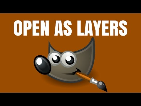 GIMP: How to open as new layers