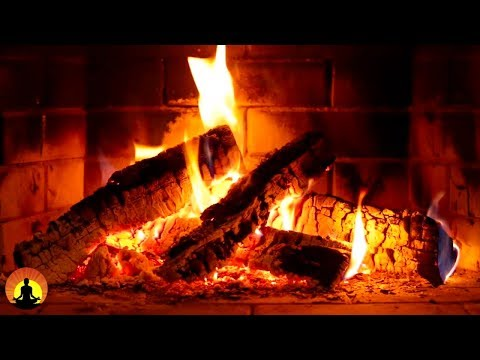12 HOURS of Relaxing Fireplace Sounds - Burning Fireplace