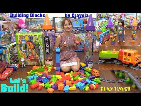 LEGO Duplo Track System Train Set, Disney Cars and Crayola Building Blocks Playtime Fun