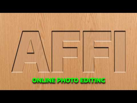 Online Photo Editing: How to Make Wood cutting  effect  in photo editing