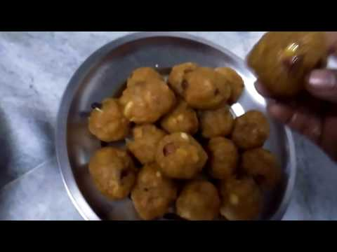Nethi Laddu l Boondi Laddu l Tirupathi Laddu Sweet Recipe Preparation in Telugu
