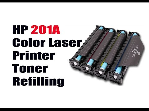 HP Color Laserjet Toner Refilling