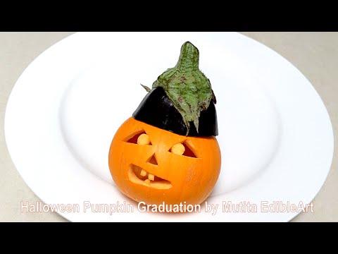 Halloween Pumpkin Carving Ideas | Graduation | Eggplant | Beginners L 90 | Mutita Edible Art