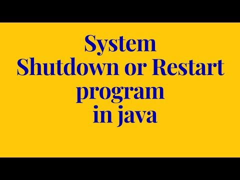 system shutdown or restart program in java