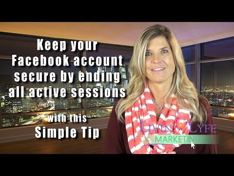 Log out of Facebook remotely and protect your account
