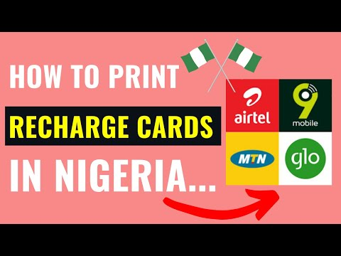 How To Print MTN, GLO, ETISALAT,  AIRTEL , VISAFONE & STARCOMM Recharge Cards in Nigeria