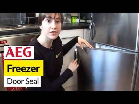 How to replace a freezer door seal on an AEG fridge freezer