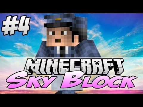 Minecraft Skyblocks Survival: [Part 4] - Lighting the Nether Portal - Custom Map