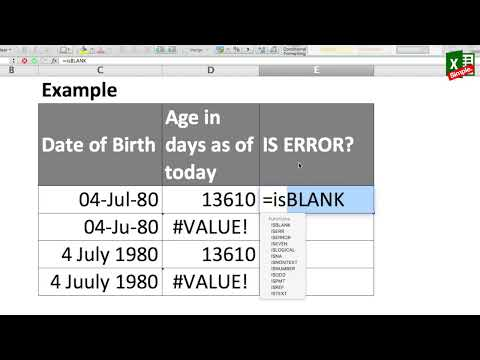 The excel ISERROR function | Using ISERROR with IF function