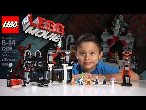 LORD BUSINESS' EVIL LAIR - LEGO MOVIE Set 70809 & BLIND BAG - Time-lapse Build, Unboxing & Review!