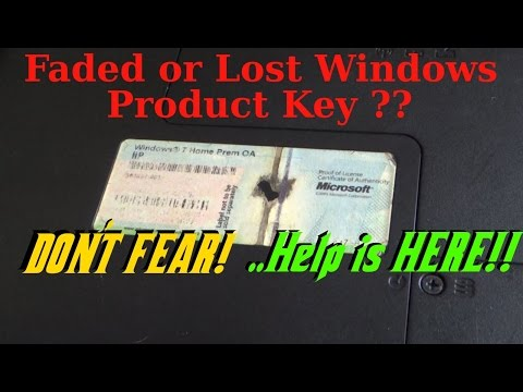 How To Recover Your Windows Operating System Product Key When It Gets Lost Or Faded