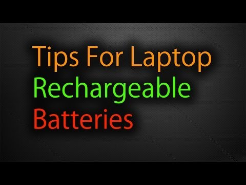 Laptop - Rechargeable Battery Tips (Extend Life)
