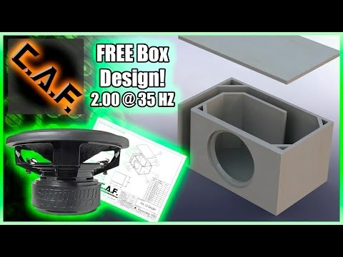 Sundown SA-12 Subwoofer Box Design - FREE - CarAudioFabrication